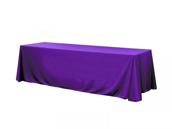Table Throw Pre-dyed Twill - Solid Color Twill Throw - 8ft Purple  Table Throw - 18 in stock colors