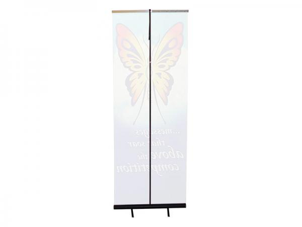 "Courier Banner Stand - 33""w x 88""h Lightweight Portable Banner Stand - Back View"