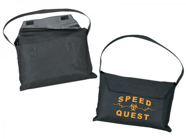 Table Throw Carry Storage Bag - black - Logo Option Available -  Shoulder Strap - Velcro Flap Closure - Durable Construction - Holds a 8ft or smaller throw