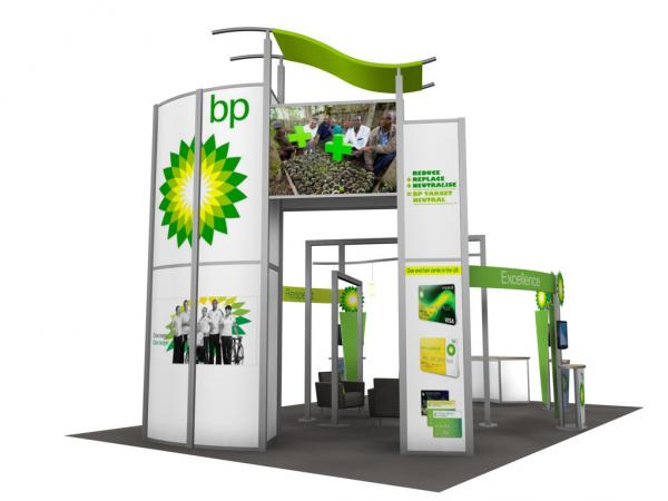 RE-9029 / BP Trade Show Rental Display -- Image 4