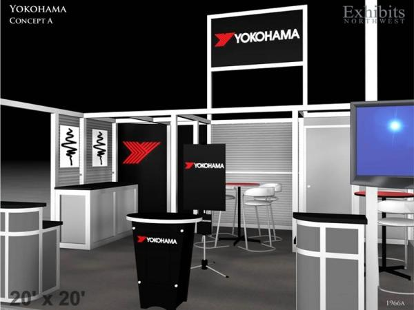 RE-9025 Rental Exhibit / 20� x 20� Island Trade Show Display � Image 4
