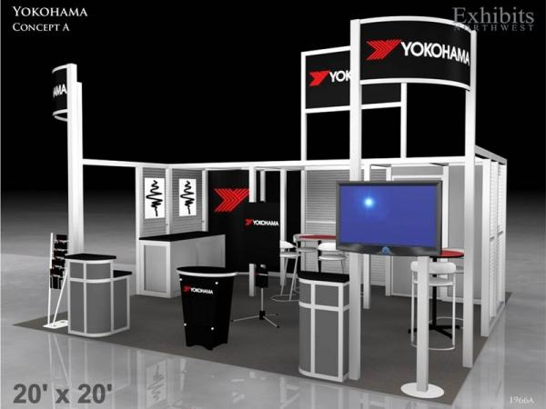 RE-9025 Rental Exhibit / 20� x 20� Island Trade Show Display � Image 3