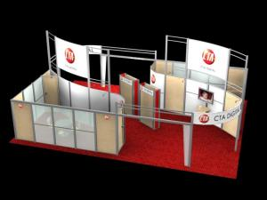 RE-9046 Rental Exhibit / 30� x 40� Island Trade Show Display � Image 4
