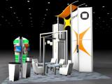RE-9061 Rental Exhibit / 20� x 20� Island Trade Show Display � Image 2