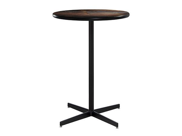 "30"" Round Bar Table w/ Wood Counter Top and Standard Black Base