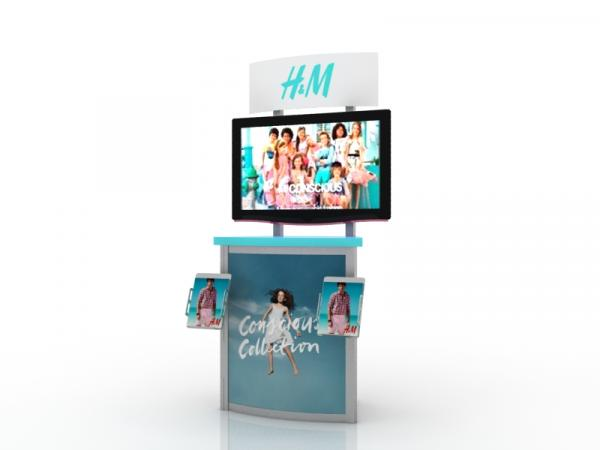 MOD-1249 Workstation/Kiosk for Trade Shows and Events -- Image 1