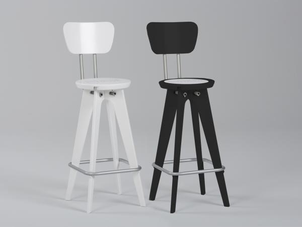 Chairs with Seatback Option -- White and Black Only