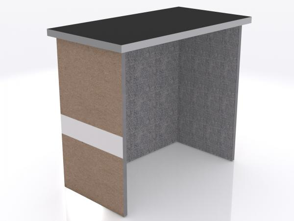 DI-610 Trade Show Pedestal -- Folding Fabric Panels -- Full Graphic (velcro-attached)