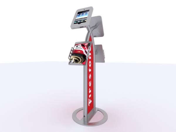 MOD-1355 iPad Kiosk with Literature Holders -- Silver
