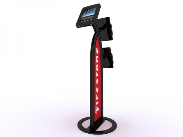 MOD-1353 iPad Kiosk with Literature Holders -- Black