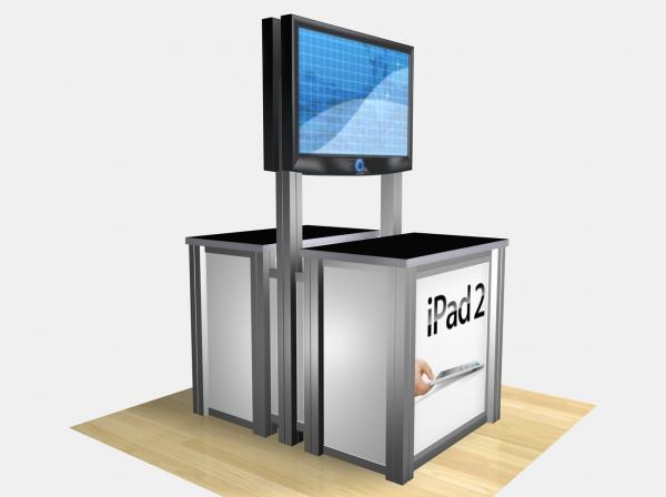 RE-1233 / Double-Sided Rectangular Counter Kiosk - Image 1