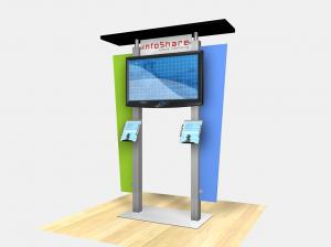 RE-1231  /  Large Monitor Kiosk with Flat Canopy - Image 2