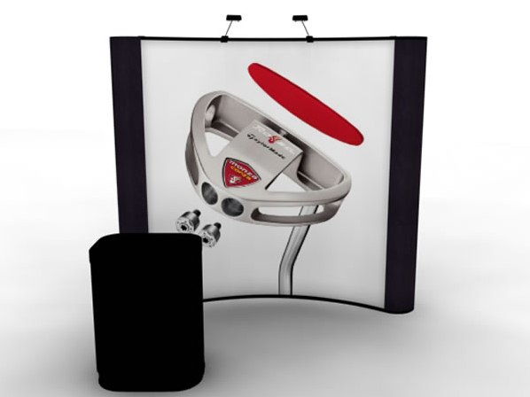 RE-1007 Rental Exhibit / 8' Curved Full Height Inline Trade Show Display – Image 1