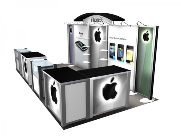 RE-2020 Rental Exhibit / 10� x 20� Inline Trade Show Display � Image 3